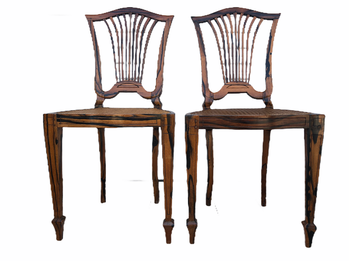 Macassar Wood Chairs