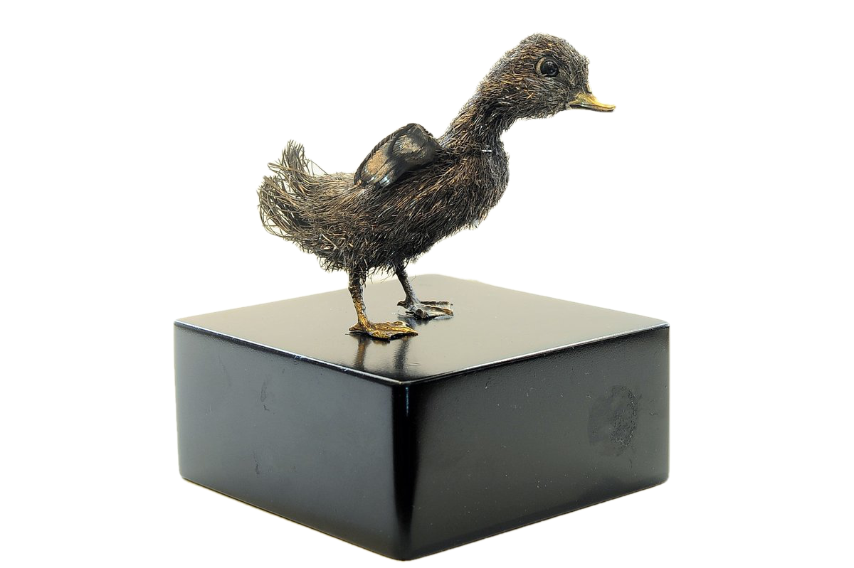 Buccellati Rare and Exceptional Italian Silver Duckling 20th Century