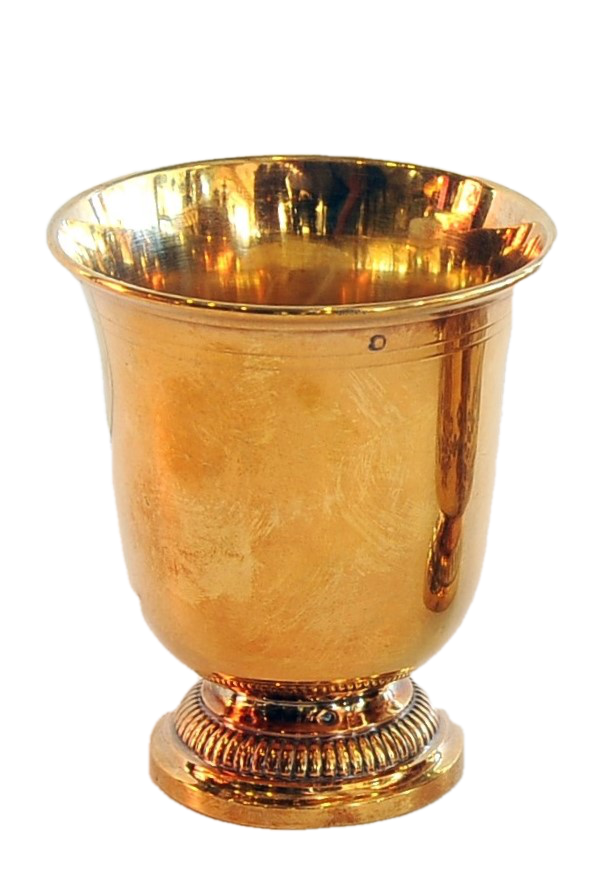 Small Gold-Washed Sterling Goblet