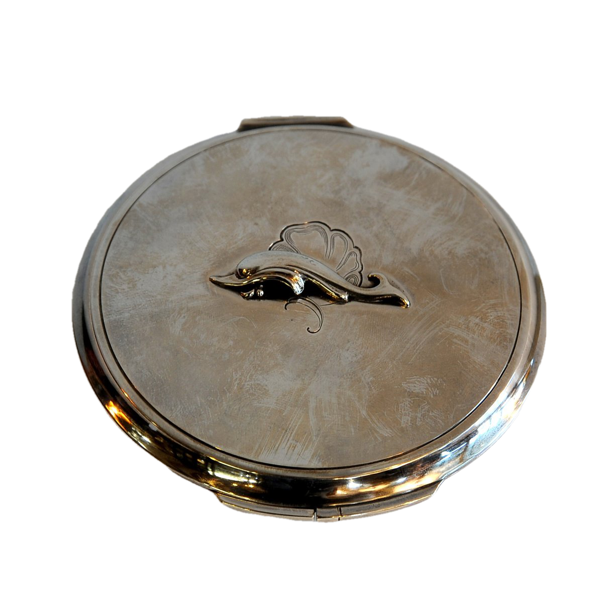 Georg Jensen, Harald Nielsen Sterling Silver Compact. Danish Mid 20th C.