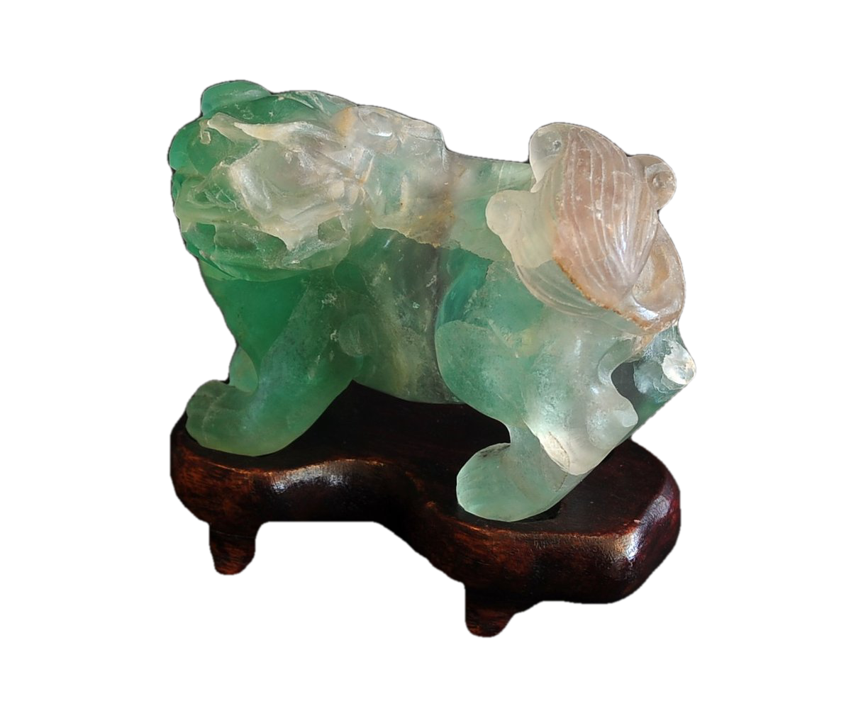 Chinese Archaic Quartz Foo Lion