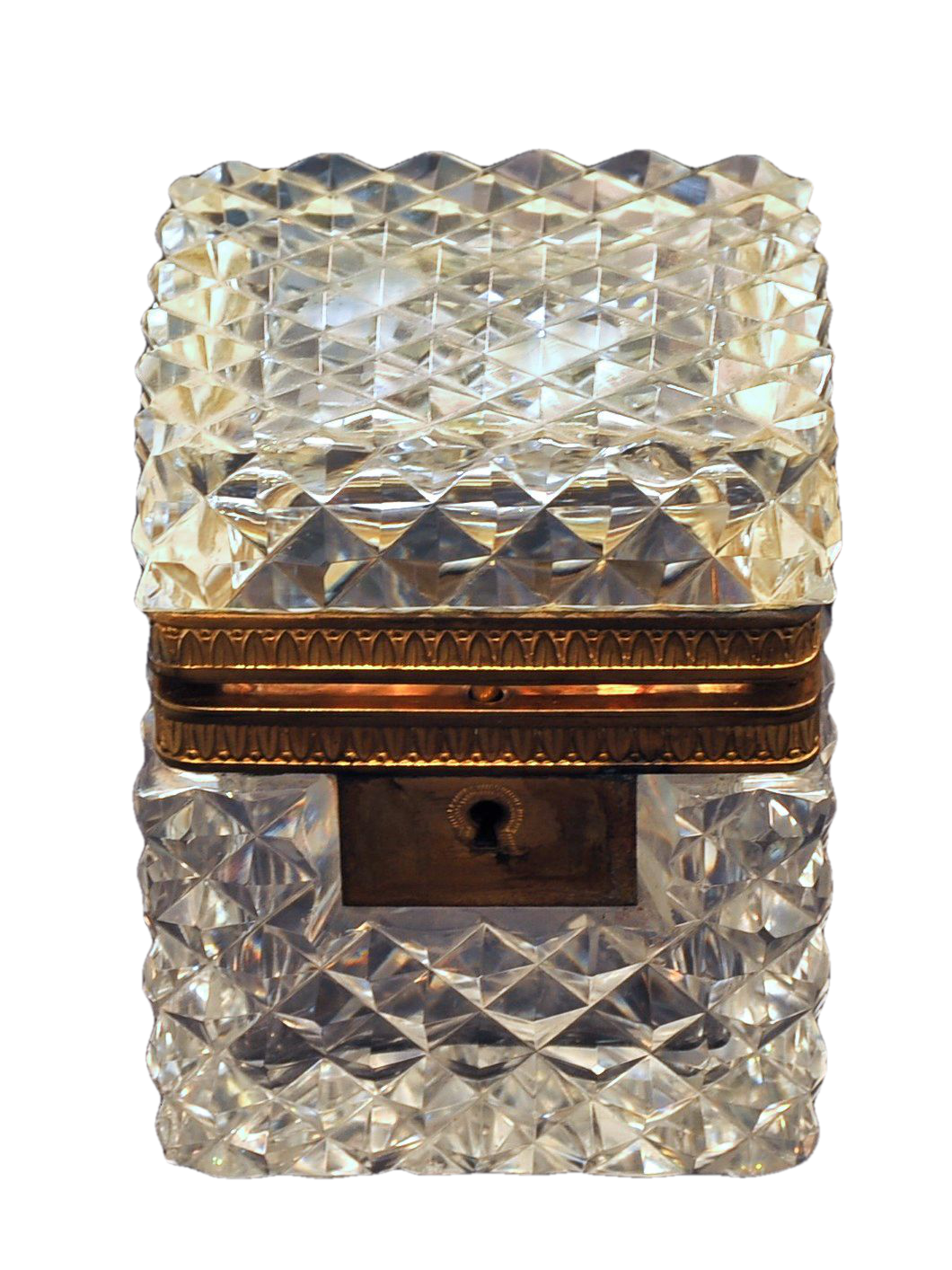 Ormolu Mounted Crystal Box in the Style of Baccarat. French