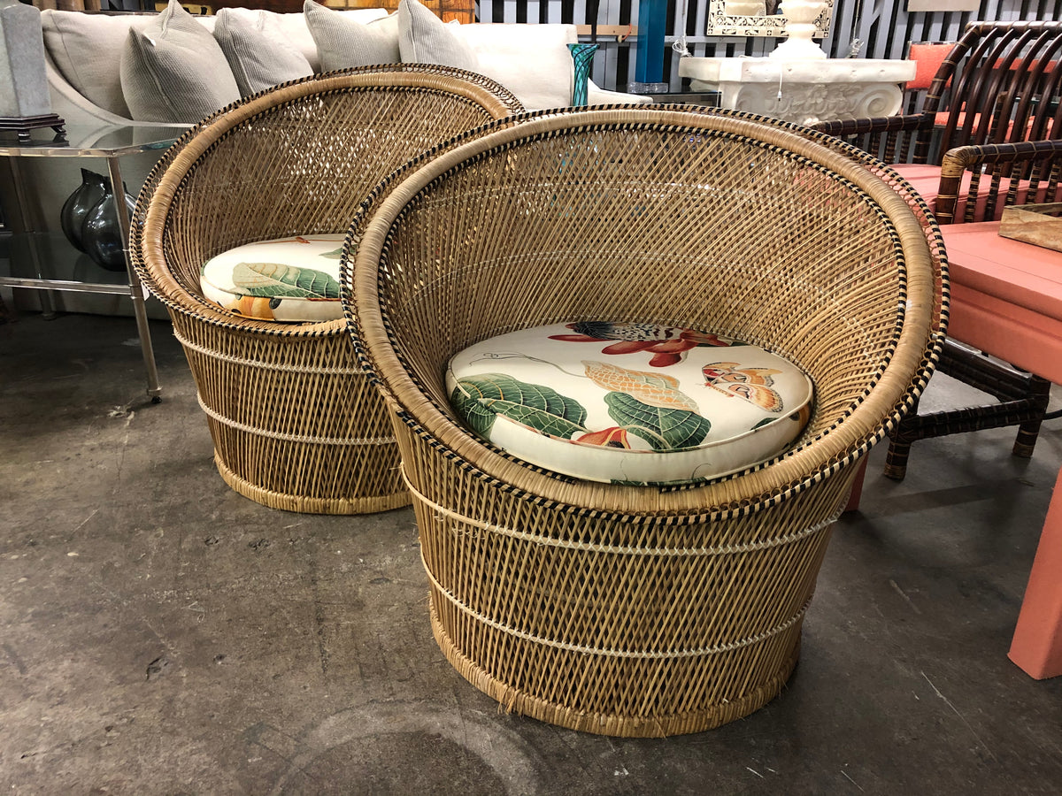 Pair of Buri Pod Chairs