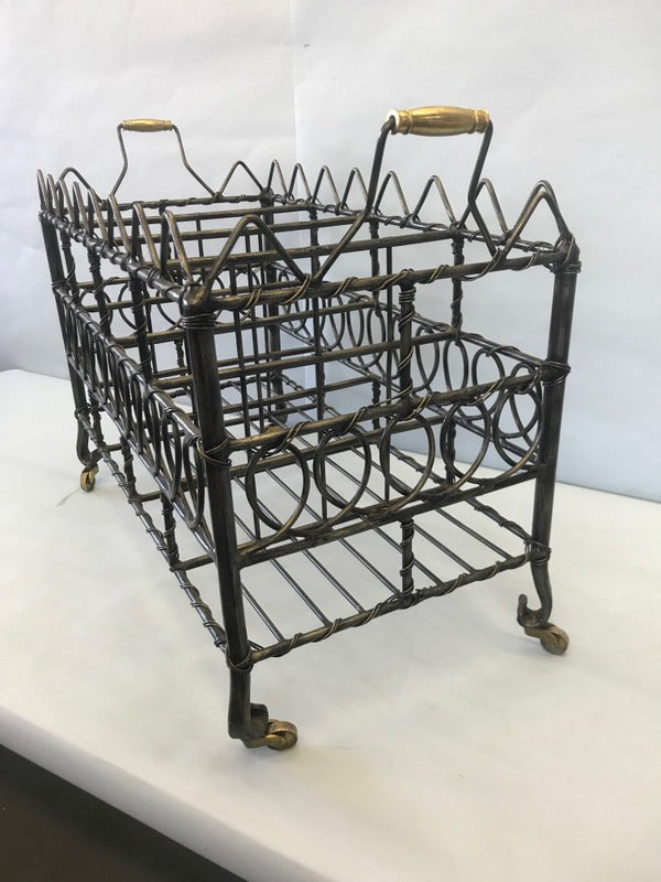 Metal Book or Magazine Holder on Casters