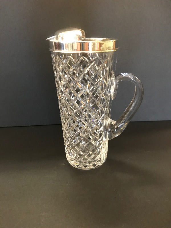 Tiffany Crystal & Sterling Pitcher for Drinks
