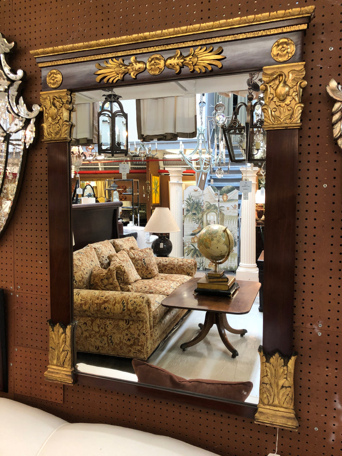 Wood and Gilt Mirror