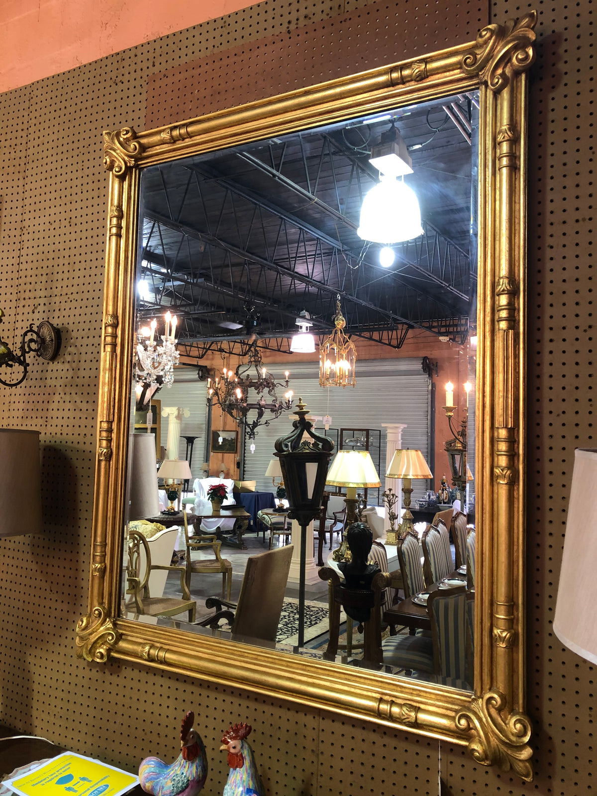 Mirror with Gilt Frame