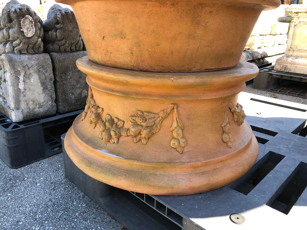 Large Terracotta Pots on Stands