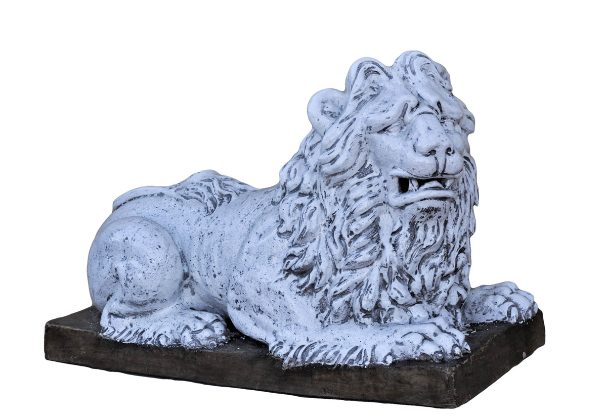 Porcelain Lion Garden Sentry
