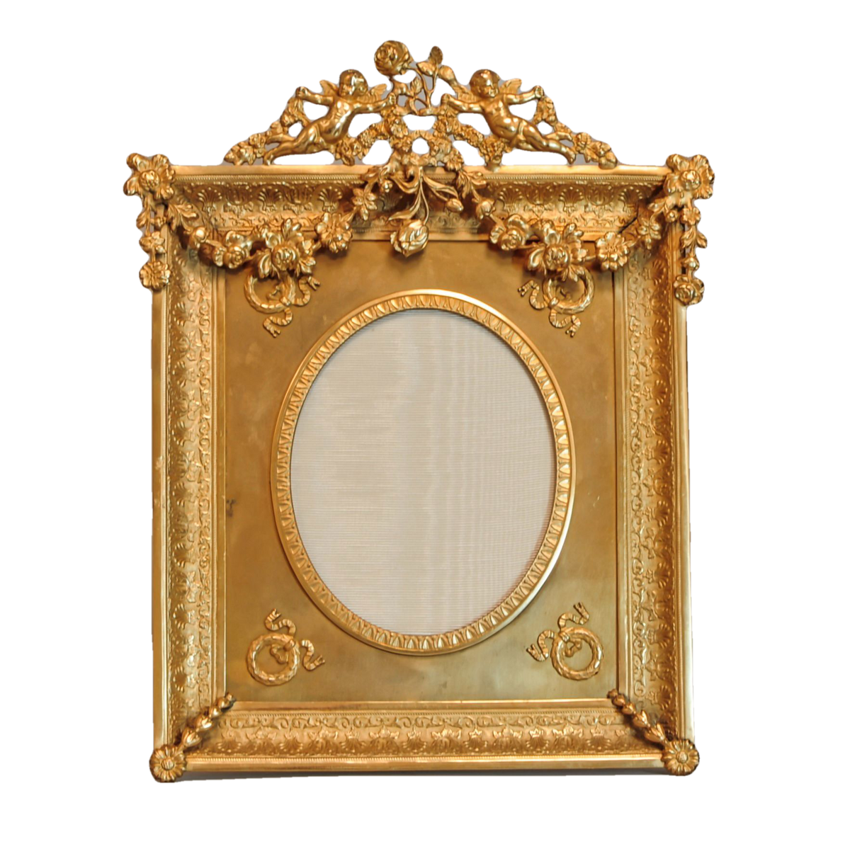 Gilt Frame With Putti and  Garland