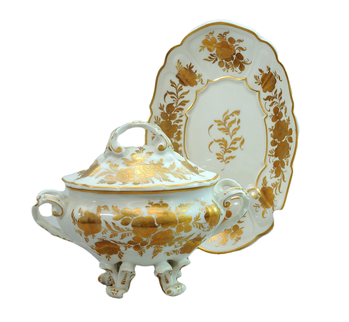 French Porcelain Covered Sugar Bowl
