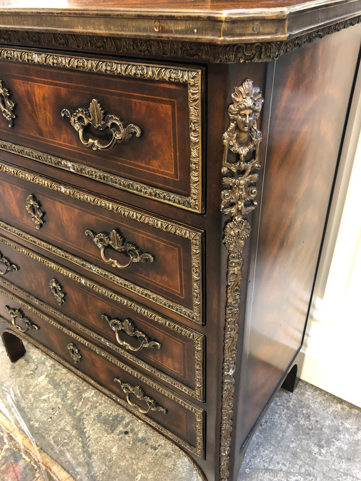 Metal Decorated 4 Drawer Chest