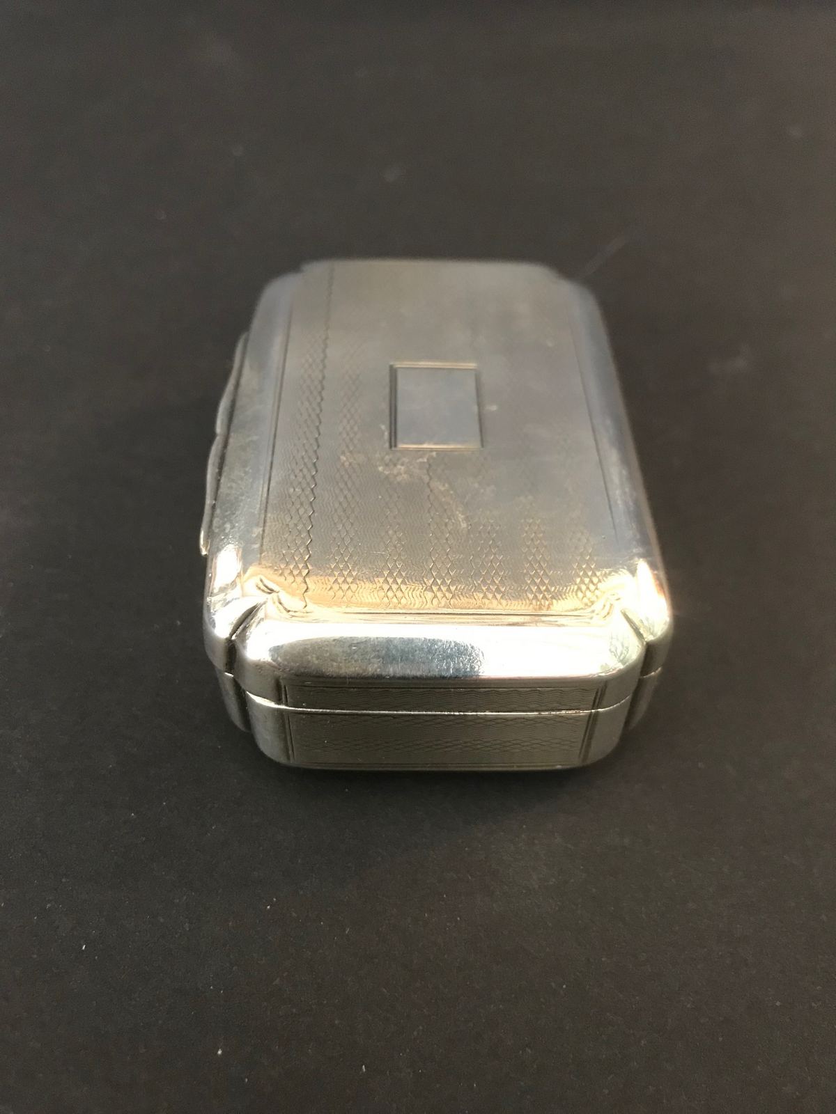 English Sterling Snuff Box Makers Mark SP