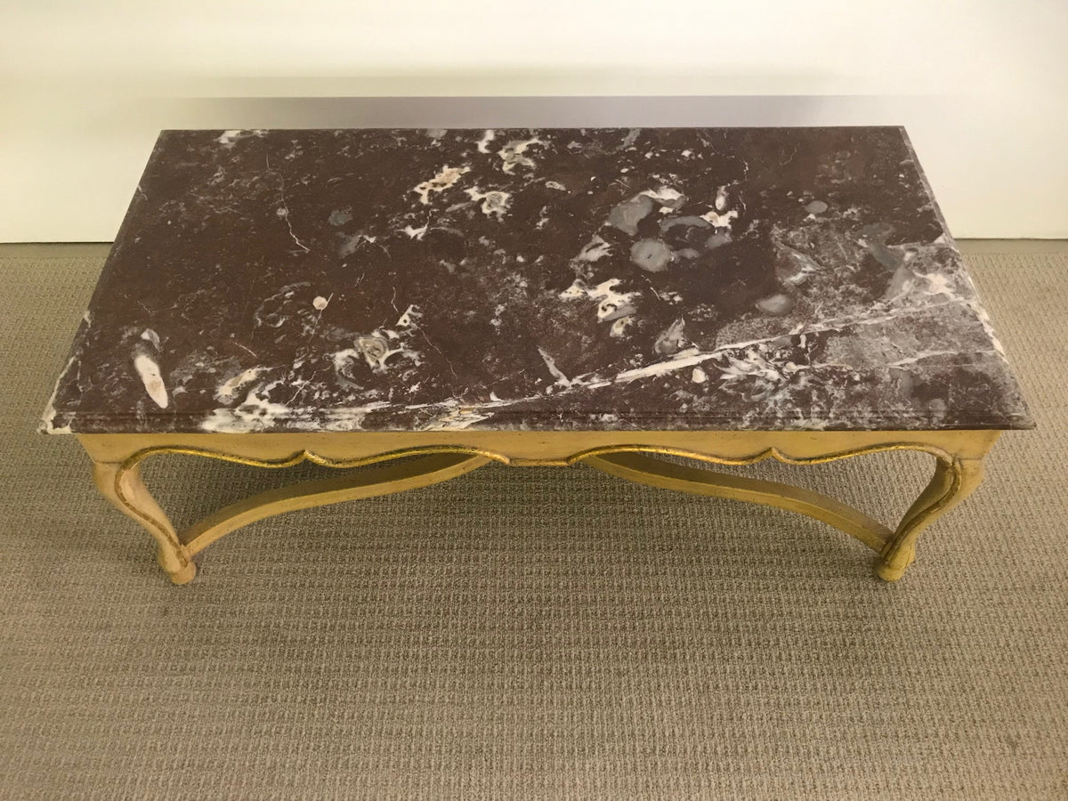 Paint and Gilt Finish Coffee Table Cabriole Leg