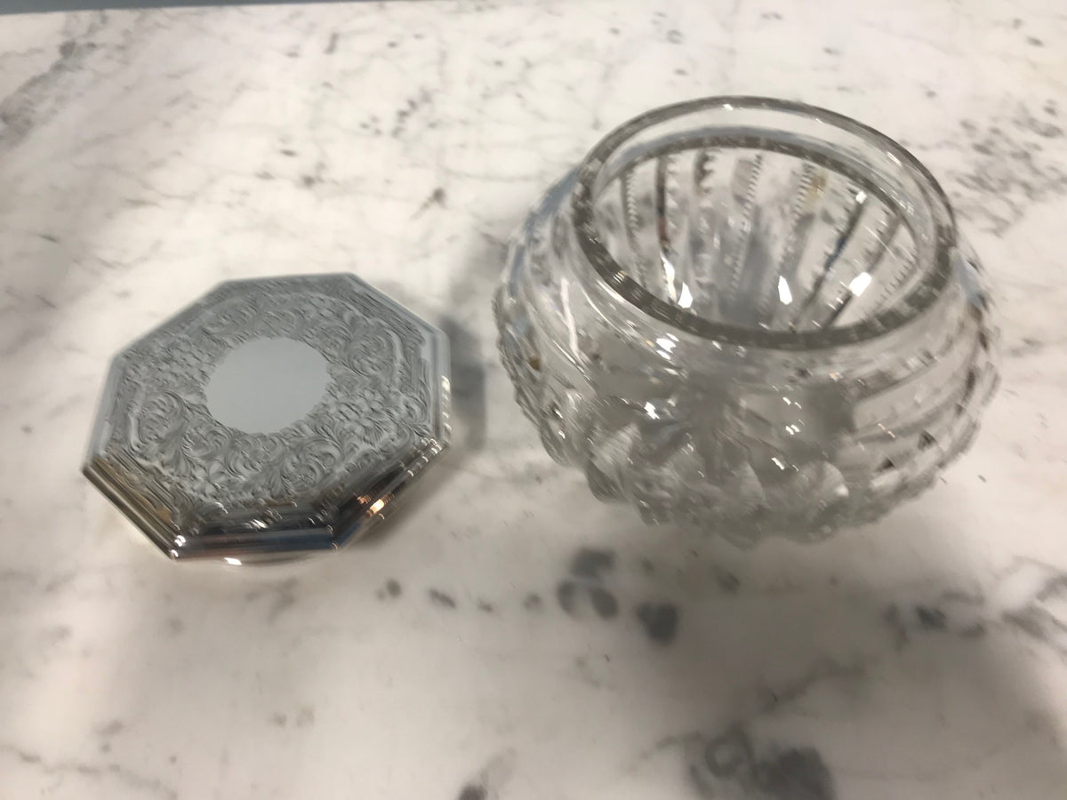 Dresser Jar With Sterling Top