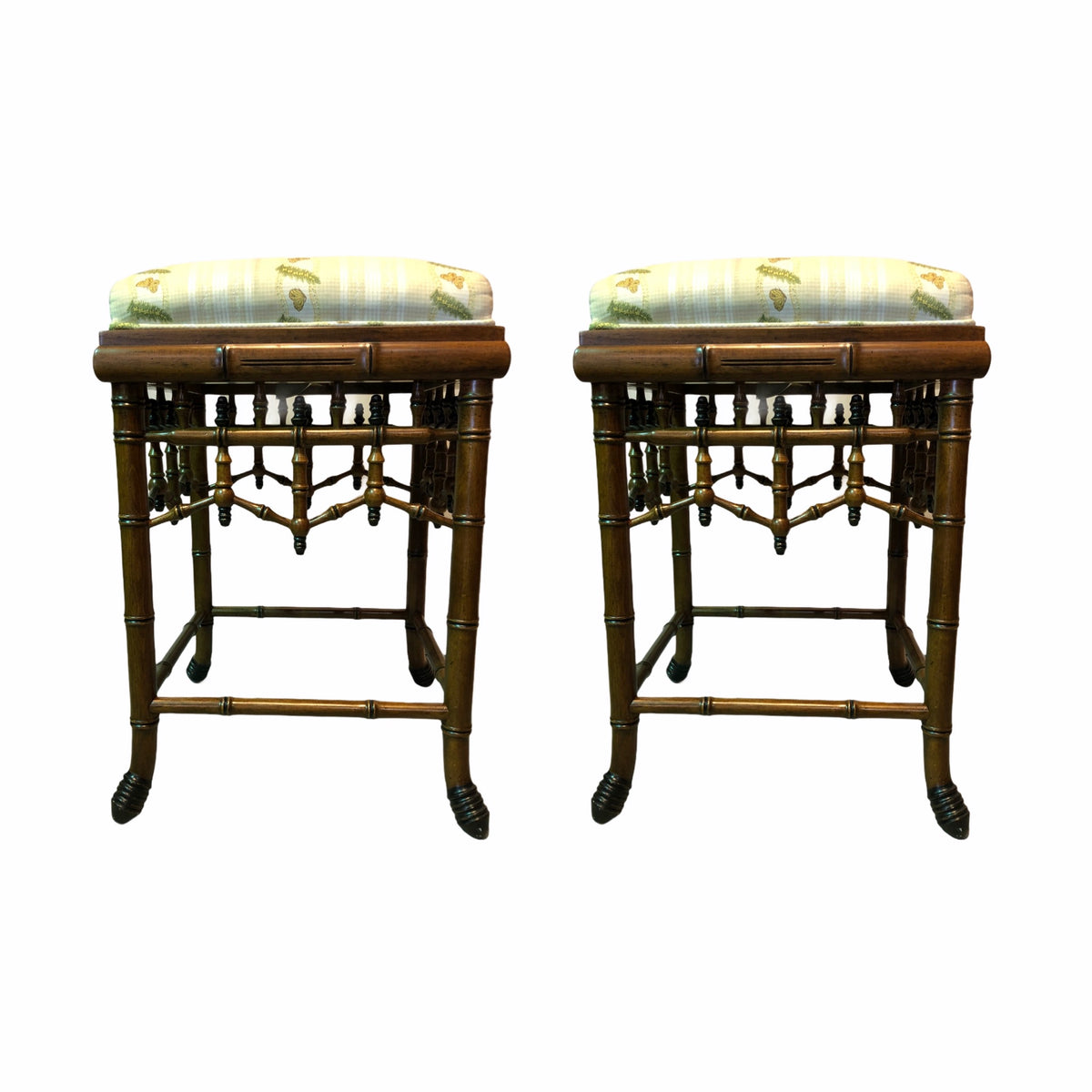 Faux Bamboo Counter Stools