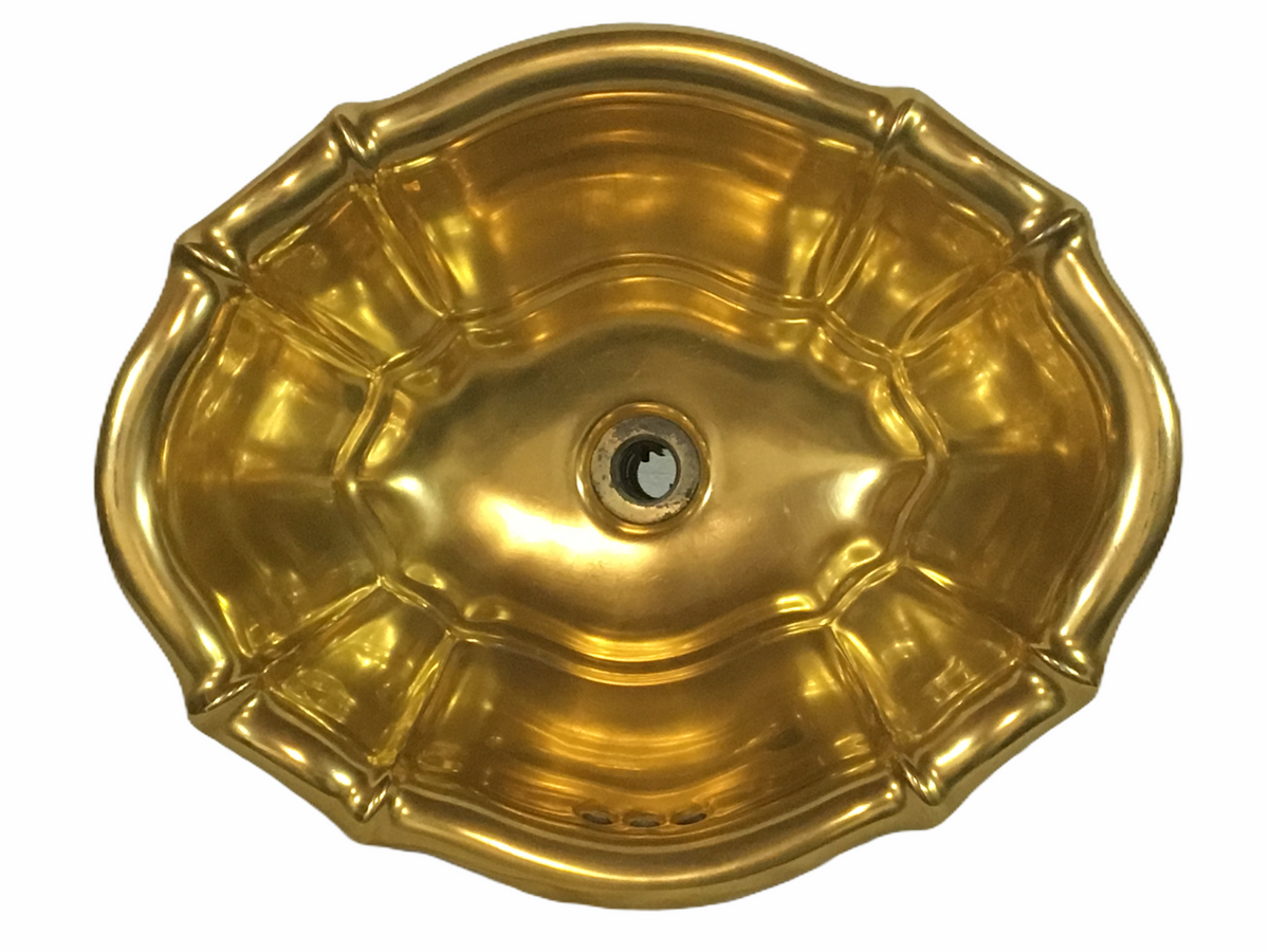 Sherle Wagner Gold Sink Bowl