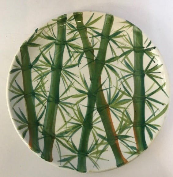 Set of Twelve Italian Bamboo Plates