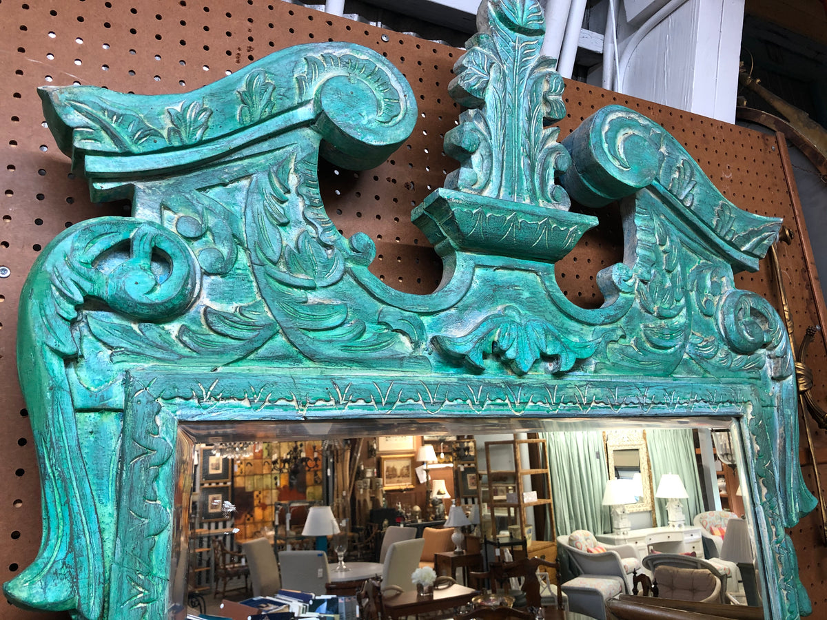 Carved Wood Painted Mirror
