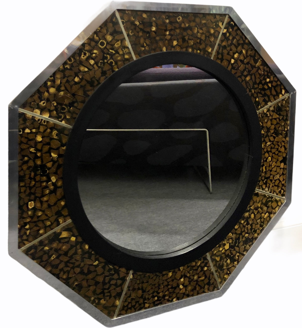 Anthony Redmile Coconut Octagonal Mirror