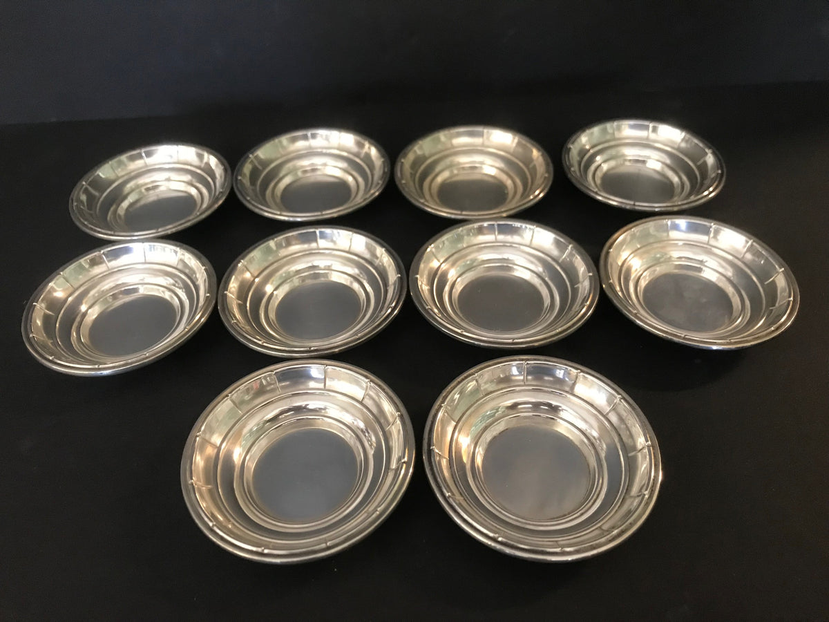 Wallace Sterling Nut Dishes Set of 10