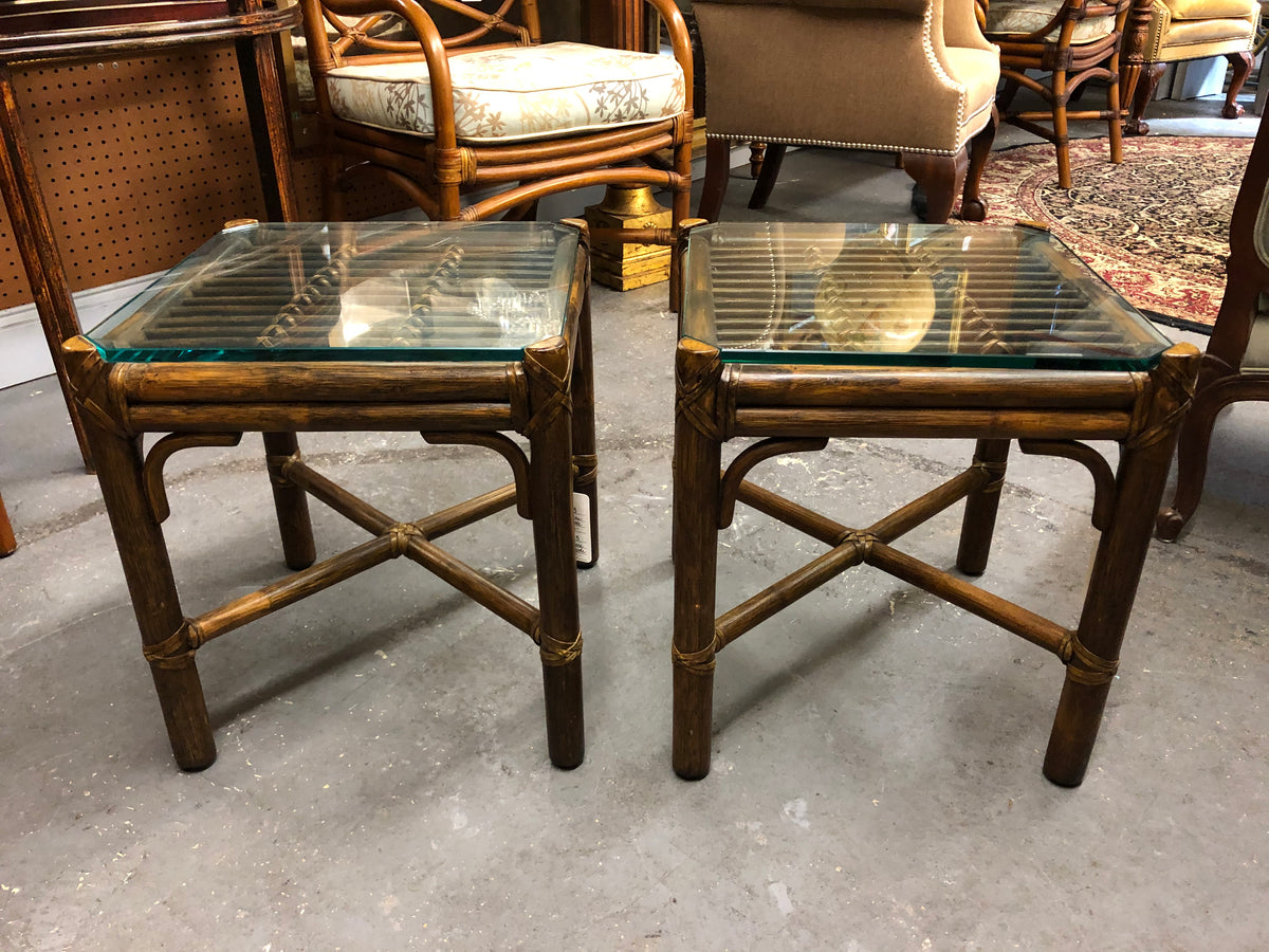 McGuire Rattan Tables