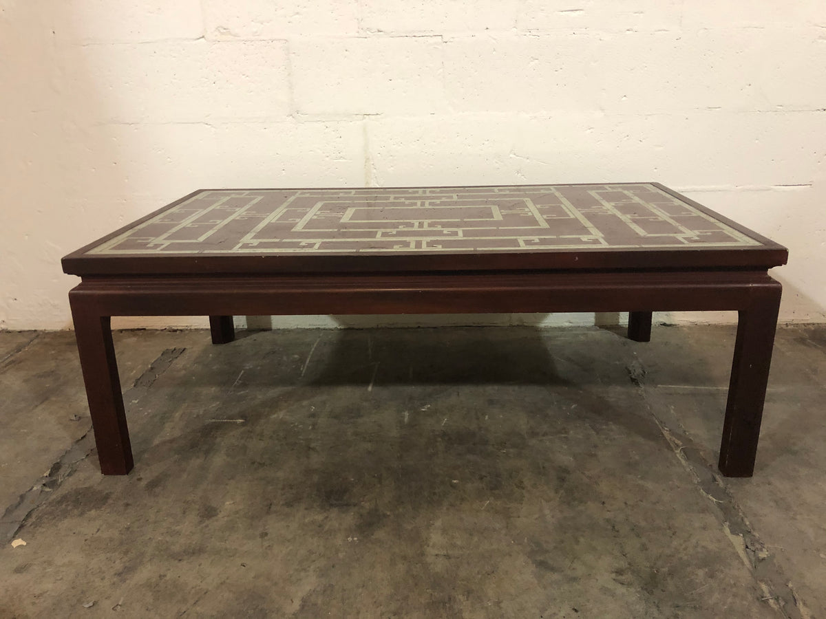 Reverse Painted Coffee Table