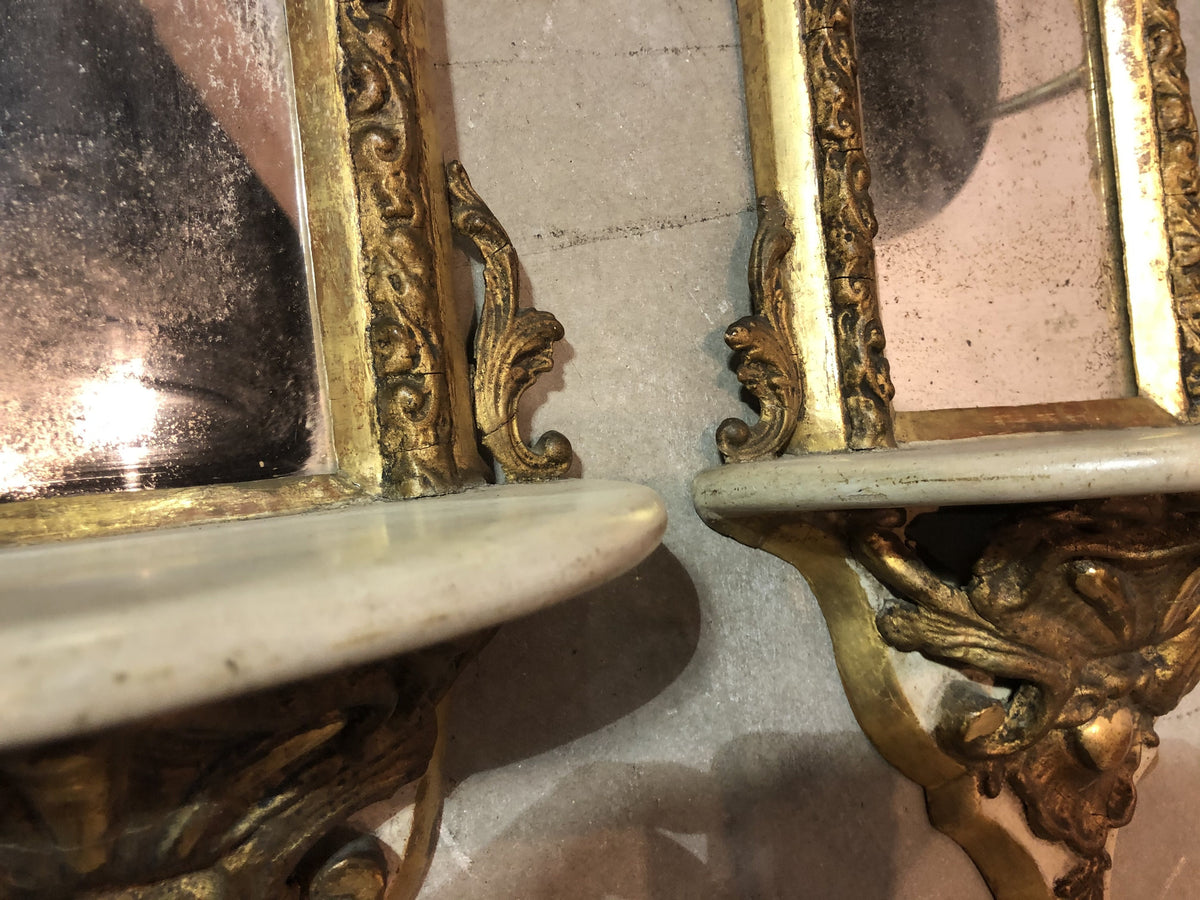 Pair Venetian Wall Shelves