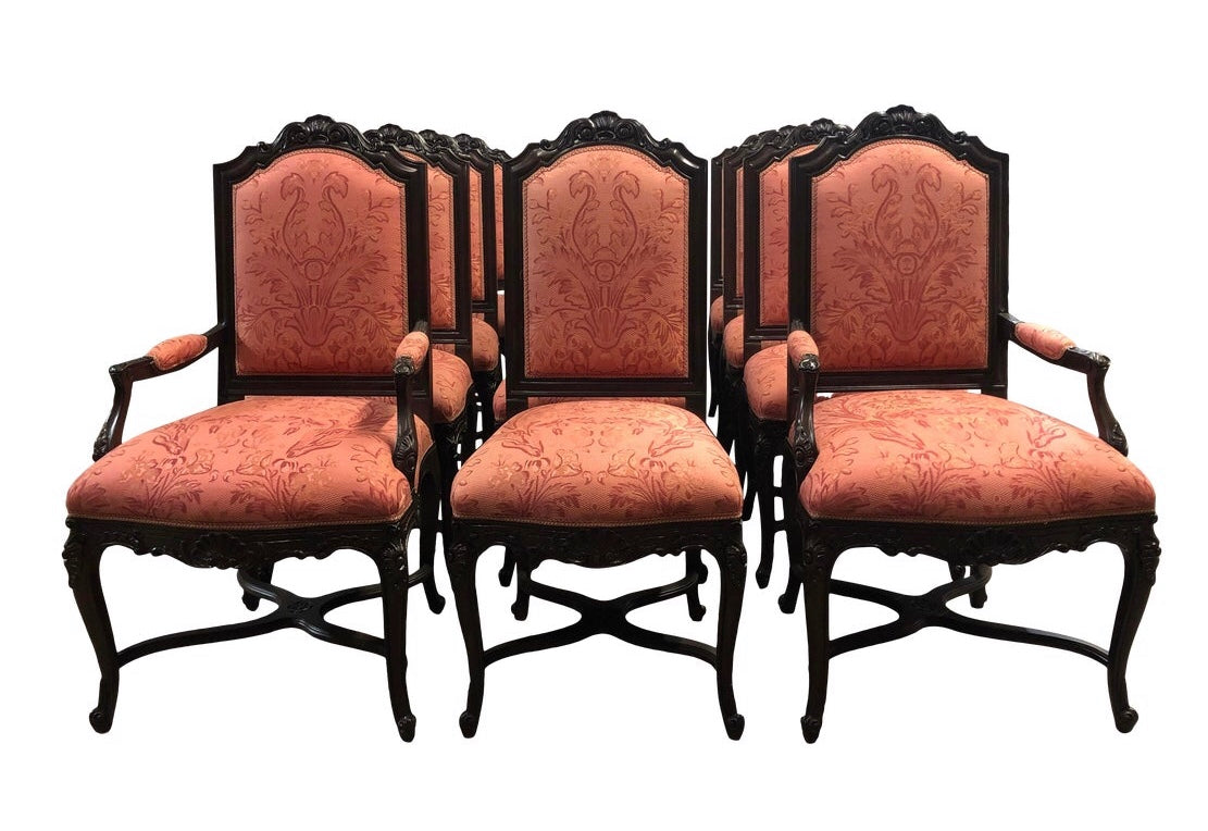 Lewis Mittman Carved Dining Chairs