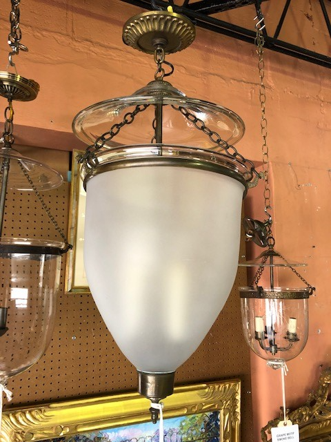 Frosted Bell Pendant Light