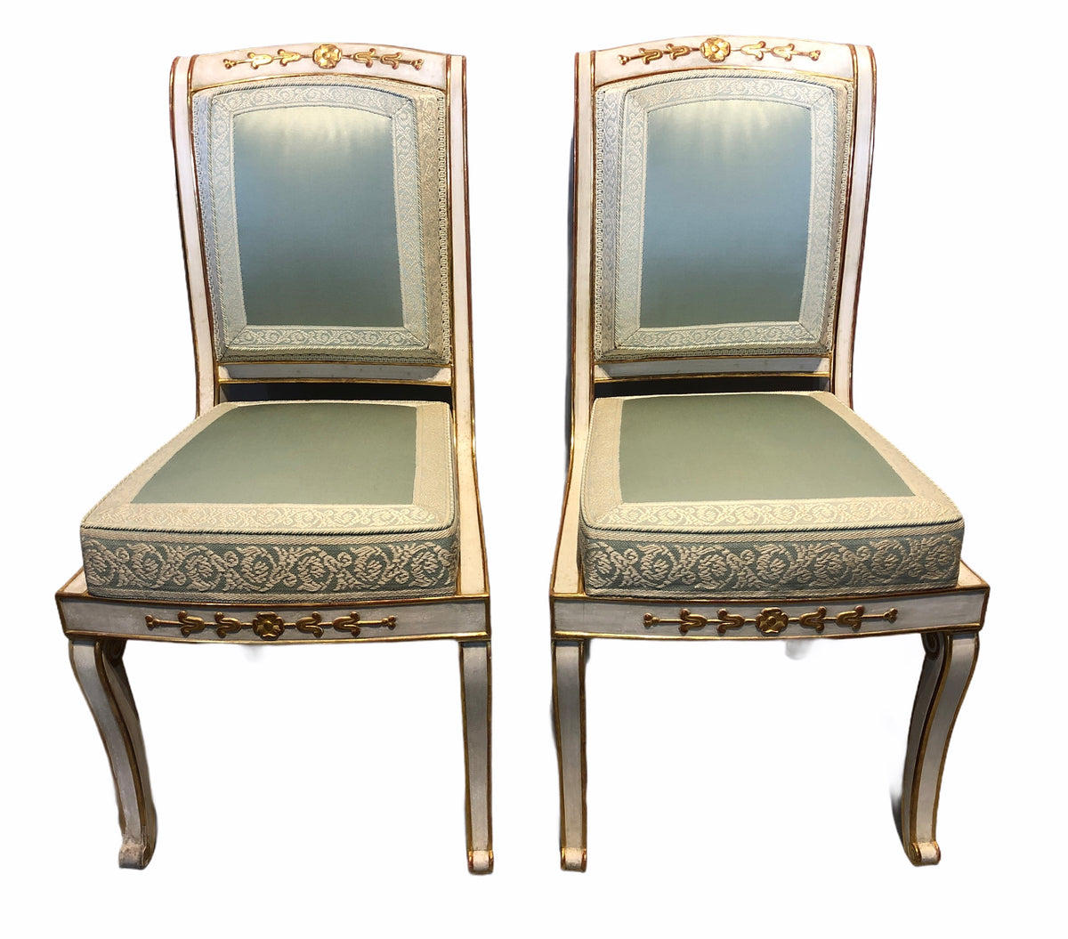 Baltic Parcel Gilt and Painted Chairs
