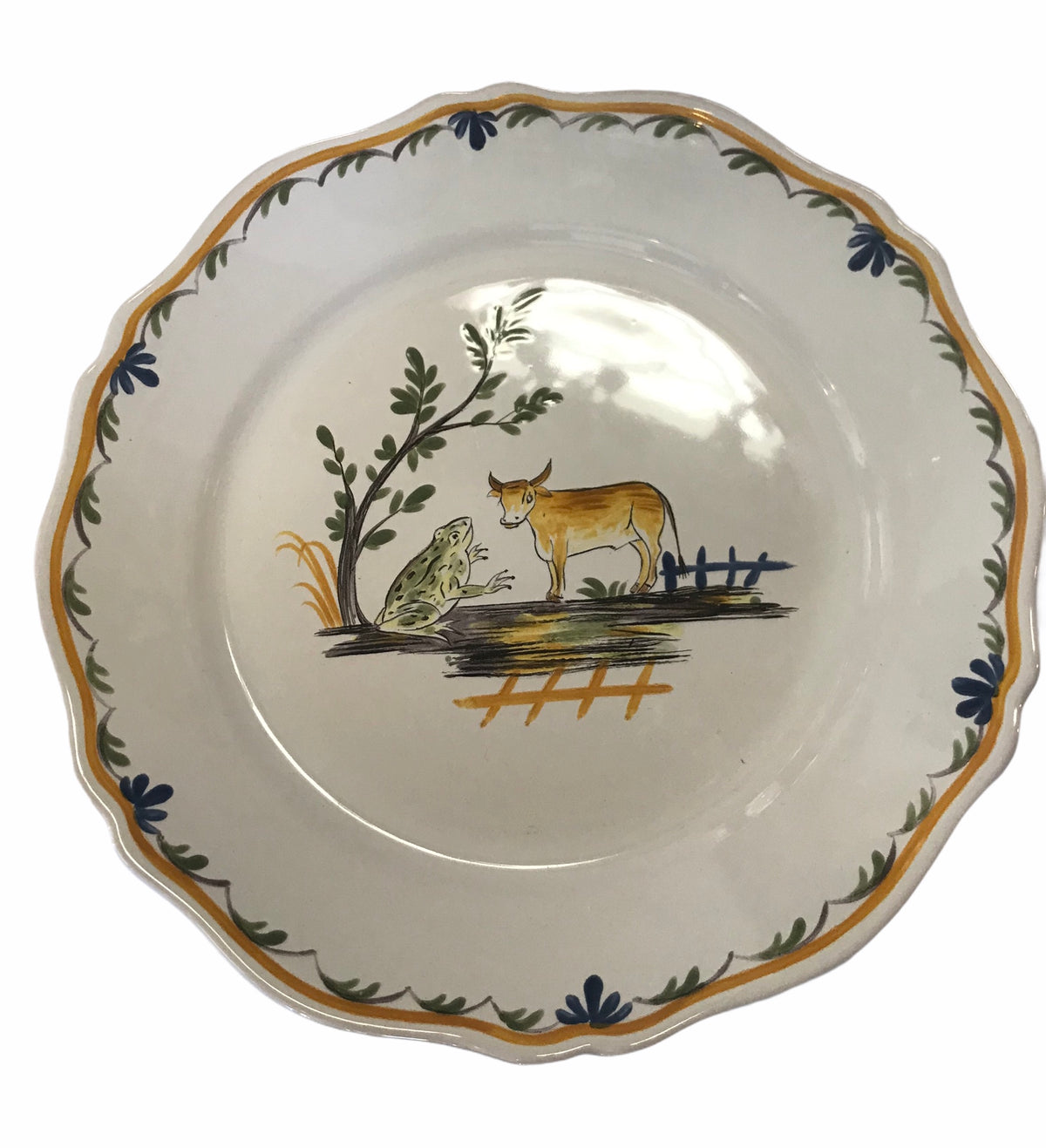 S/12 Motton de Grien Plates from Rouard Paris