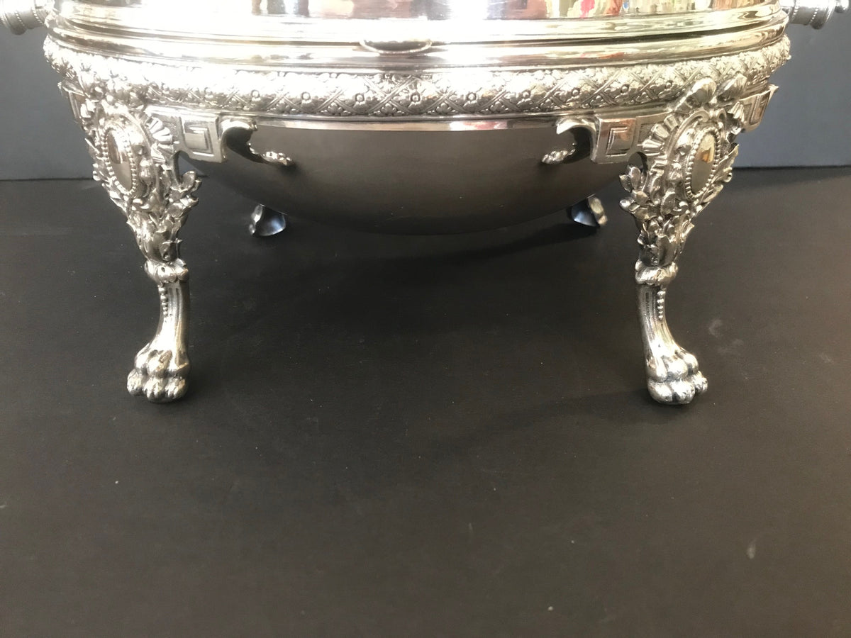 Silver Plate Roll Top Server