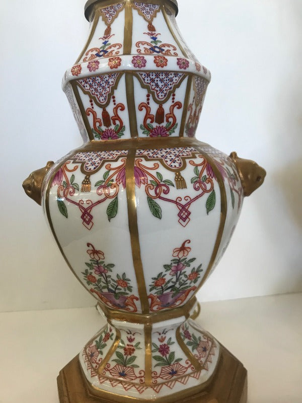 Pr. French Porcelain Lamps