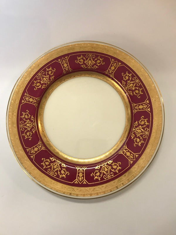 Minton S/8 Red & Gold Plates for Tiffany