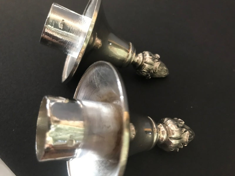 Pair Sterling Candleabra's