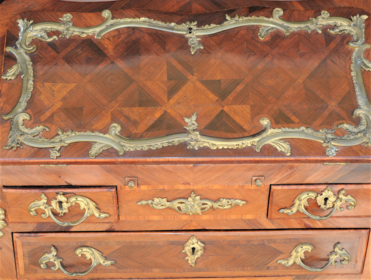 French Marquetry Writing Desk. 19th Century.