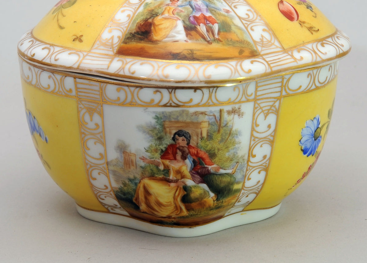 French Porcelain Covered Potpourri