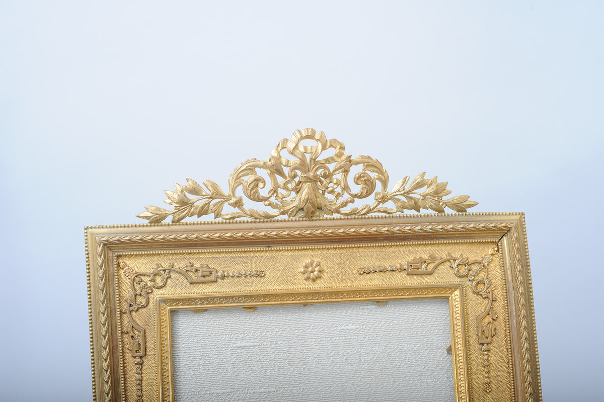 Lord and Taylor Art Deco Gilt Bronze Table Top Frame. American, Early 20th Century