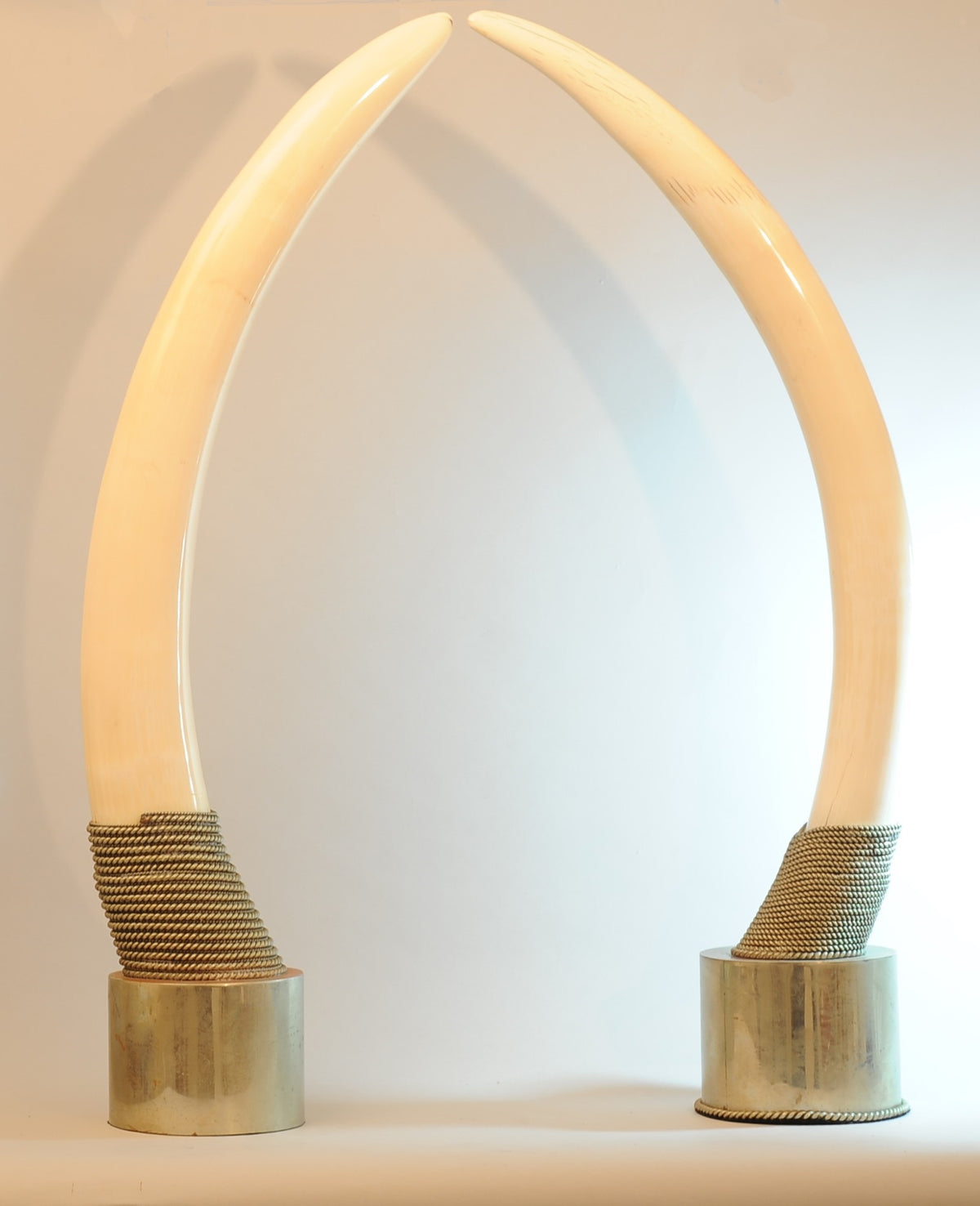 Pair of Faux Elephant Tusks