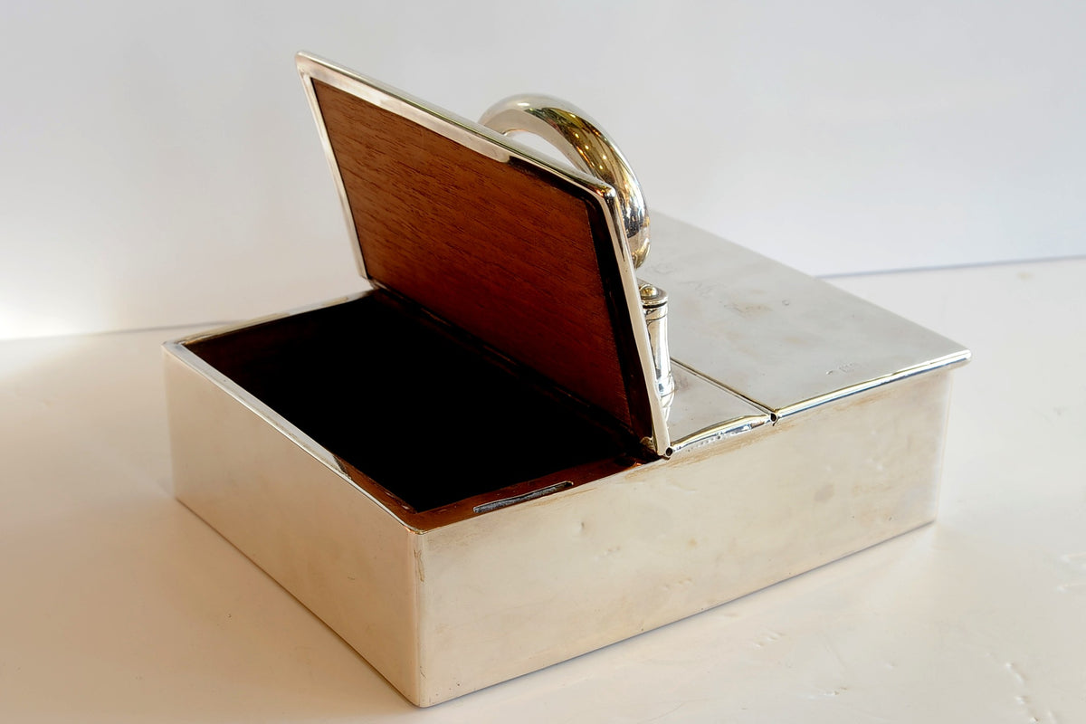 George II Sterling Silver Cigar Box or Humidor