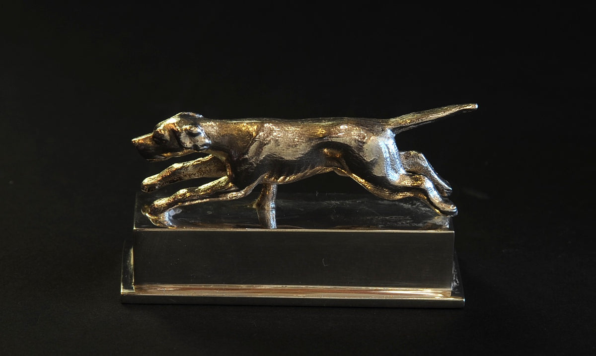 Six Sterling Silver, Hound-Form Placeholders