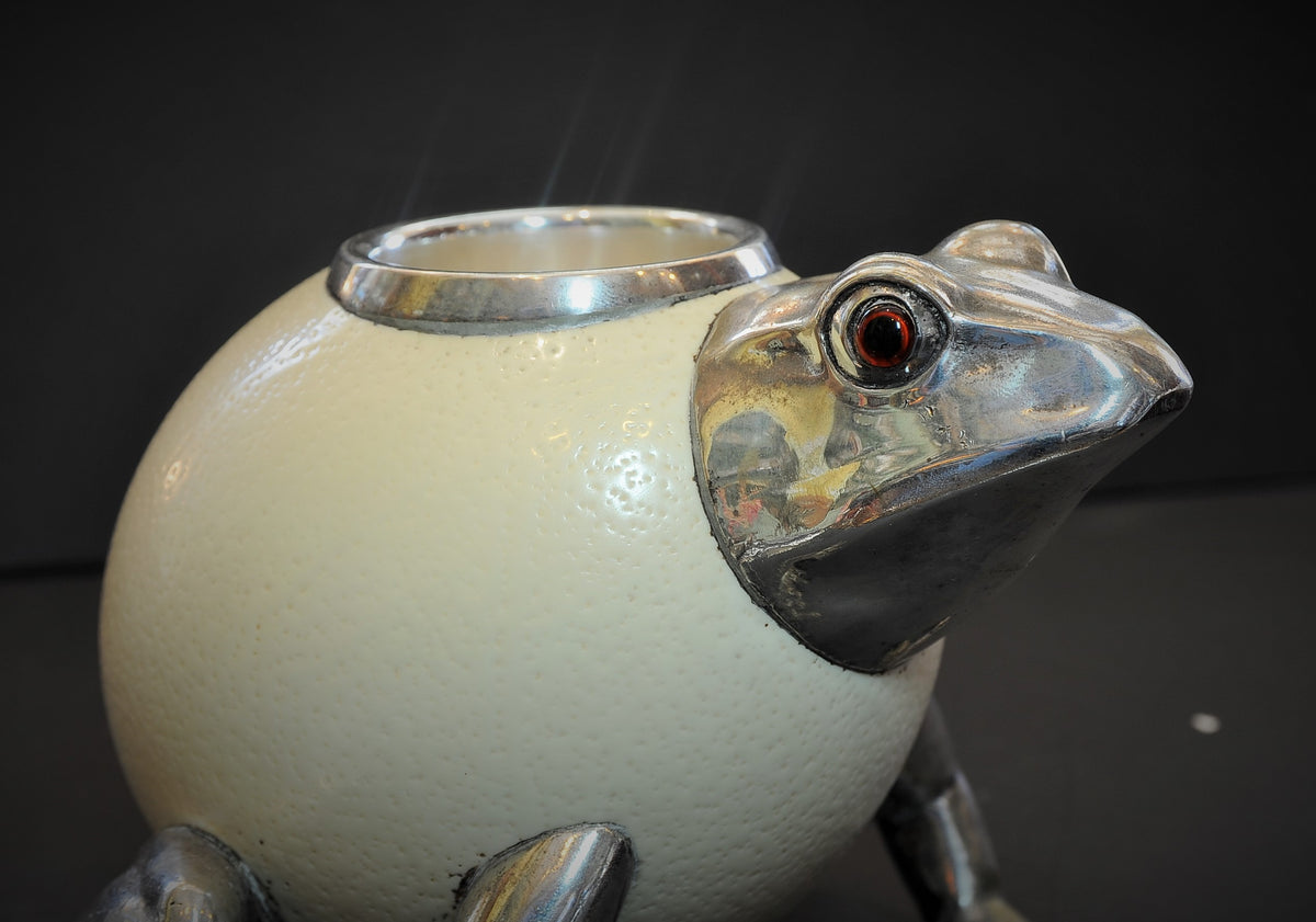 Ostrich Egg Frog by Prince Anthony Redmile  (British Born 1945)