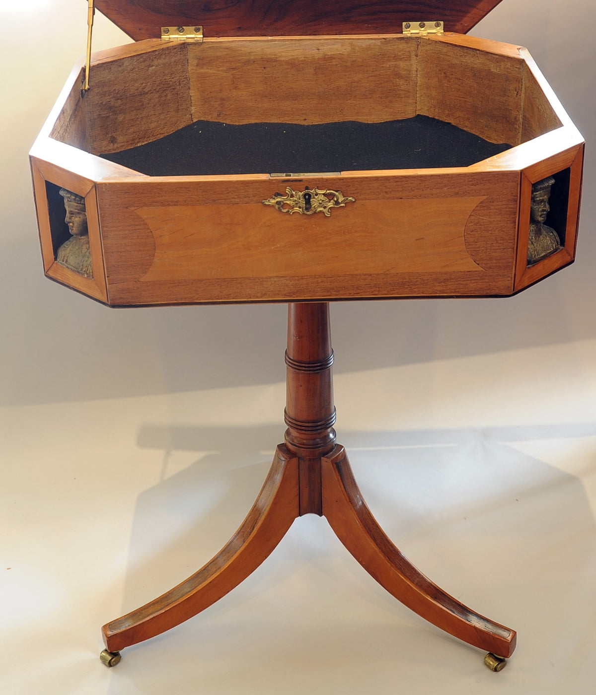 Hinged Top Game Table. English, Late 19th/Early 20th C.