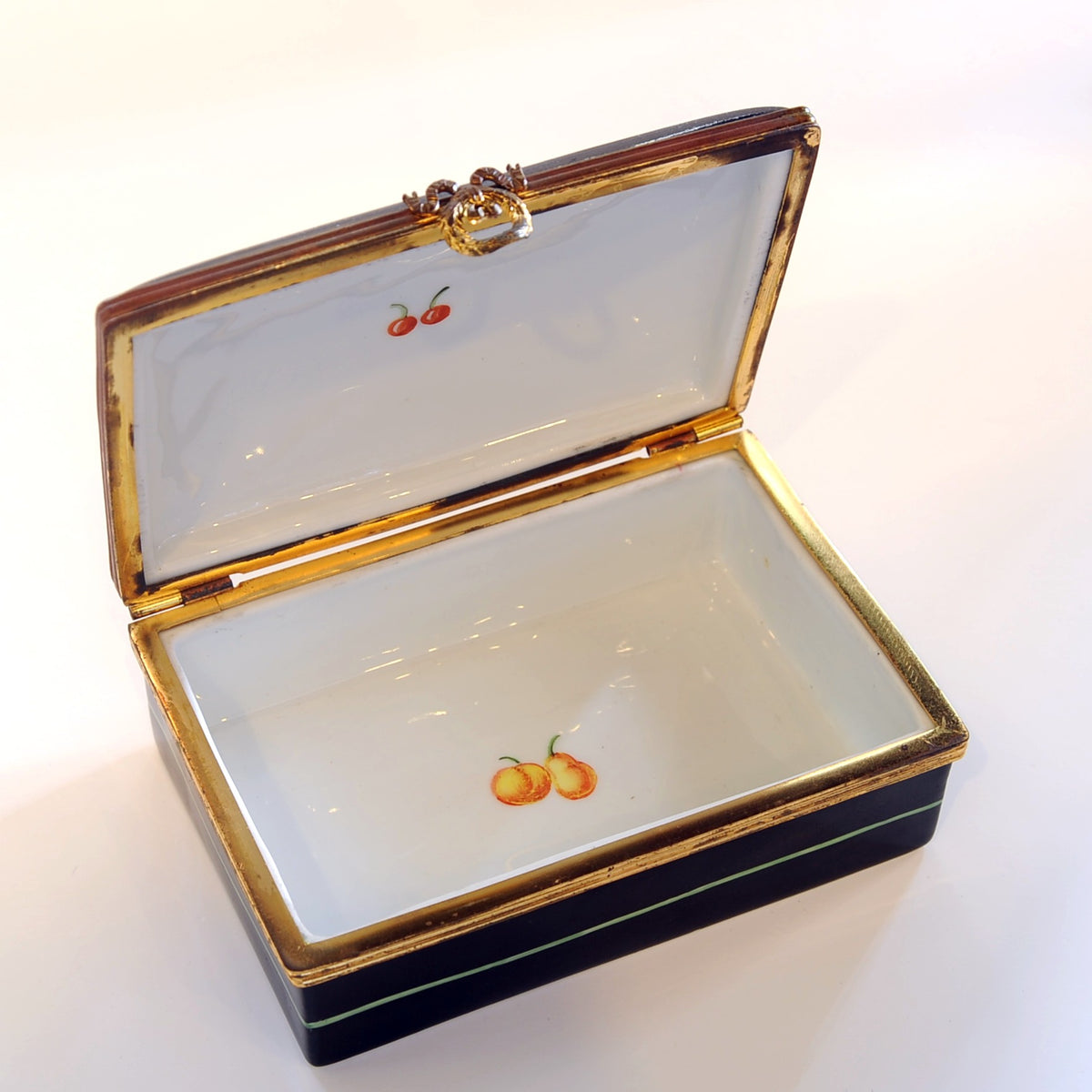 Tiffany & Co.  Private Stock Porcelain Handpainted Dresser Box, France, Early 20th C.