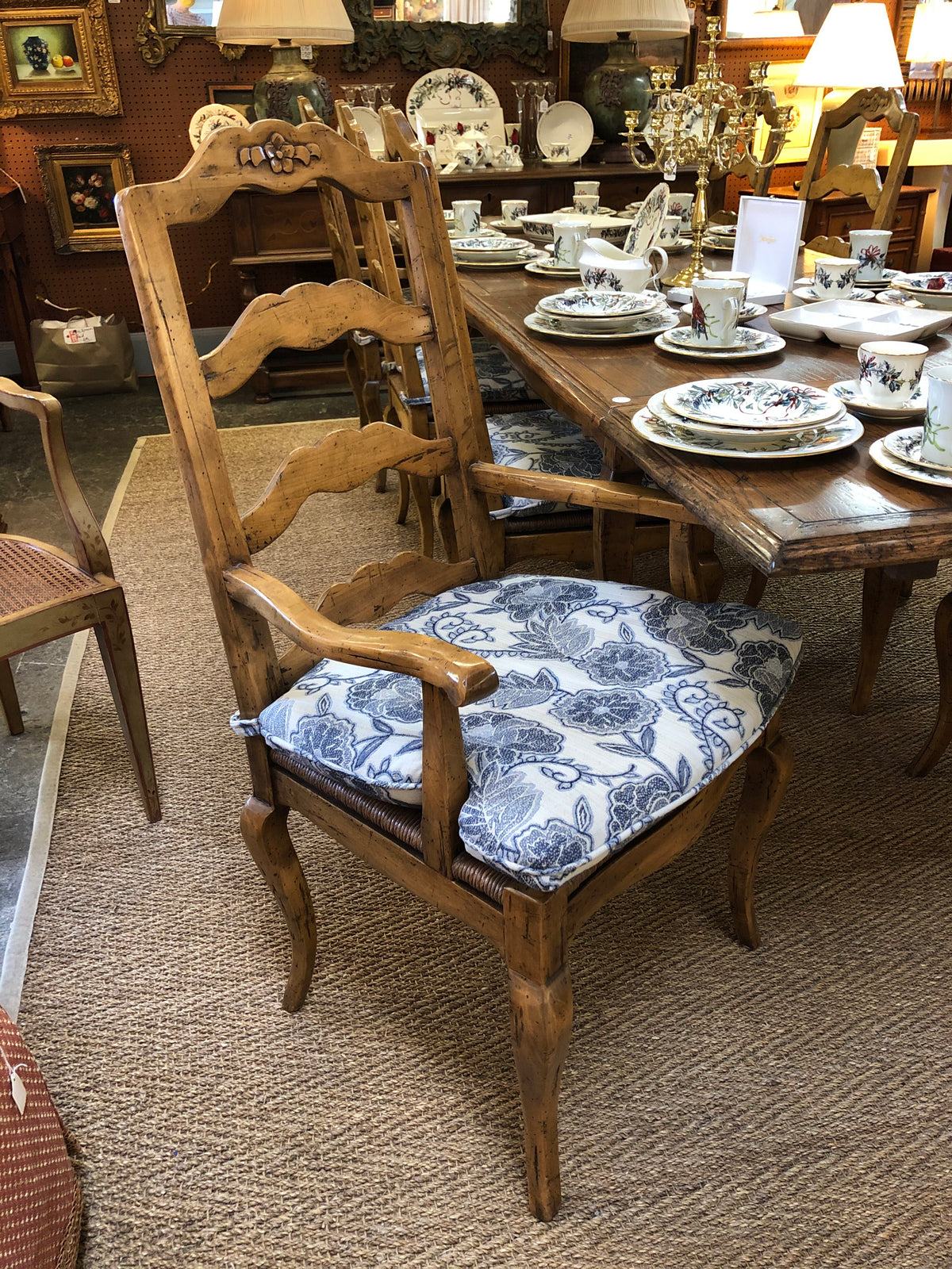 Set of 8 Country French Dining Chairs