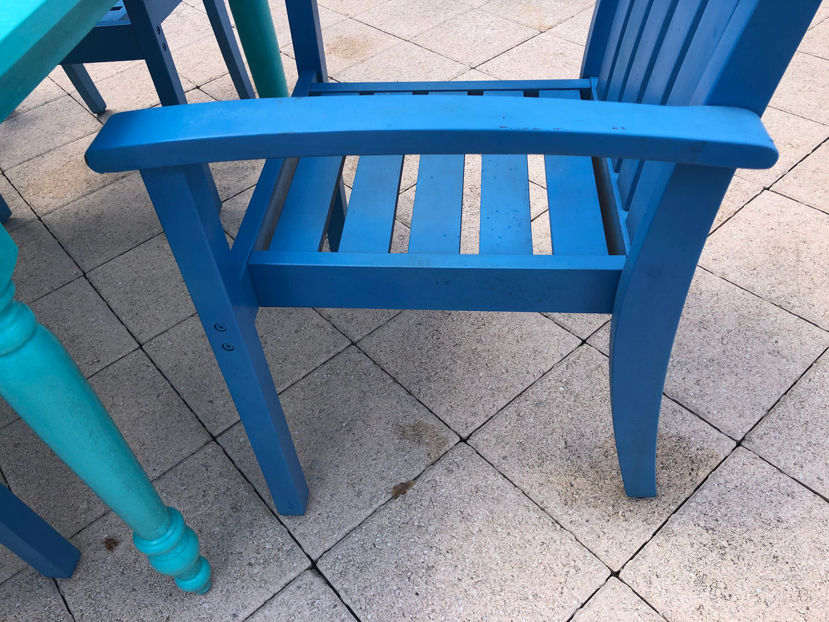Painted Outdoor Table and 6 Chairs
