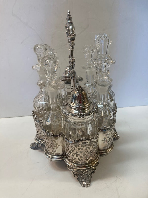 English Sterling Victorian Cruet Set