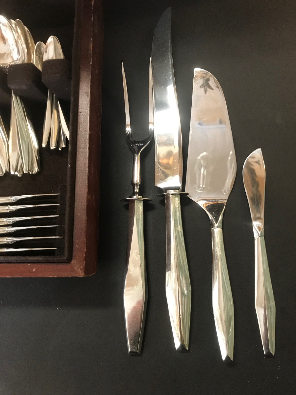 "Reed & Barton Sterling ""Diamond"" Flatware for 12"