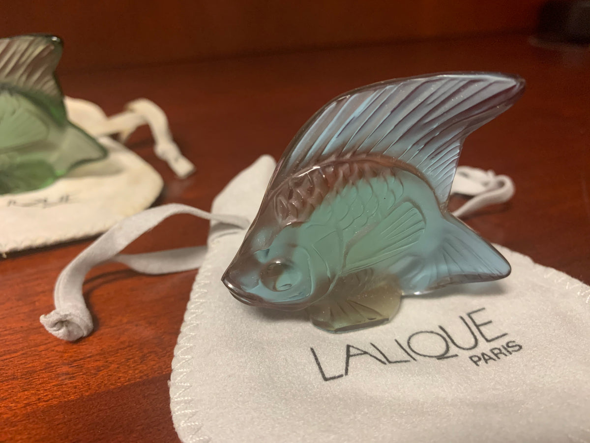 Lalique Fish Collection of Five Multicolor